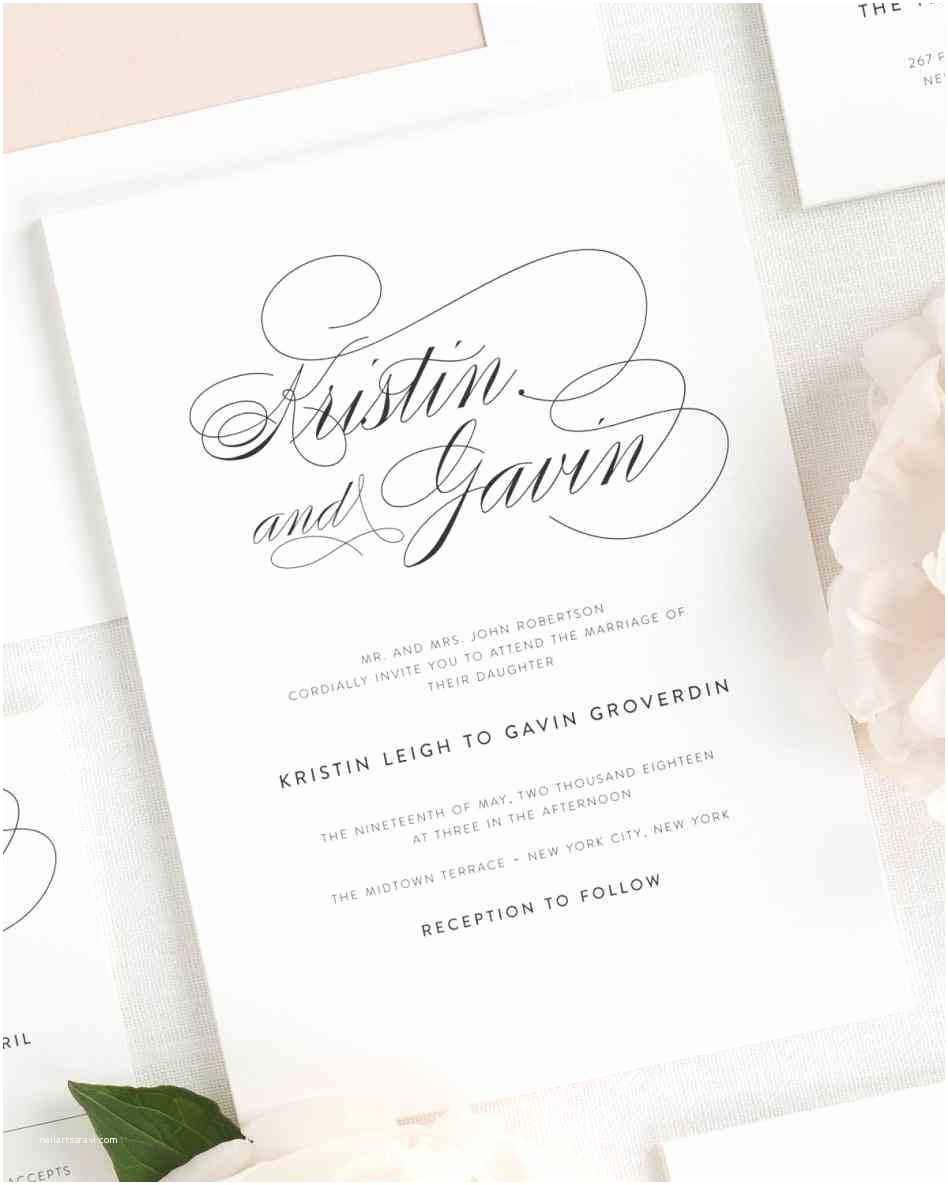 1 Page Wedding Invitation Printable Wedding Invitation Guest List organizer