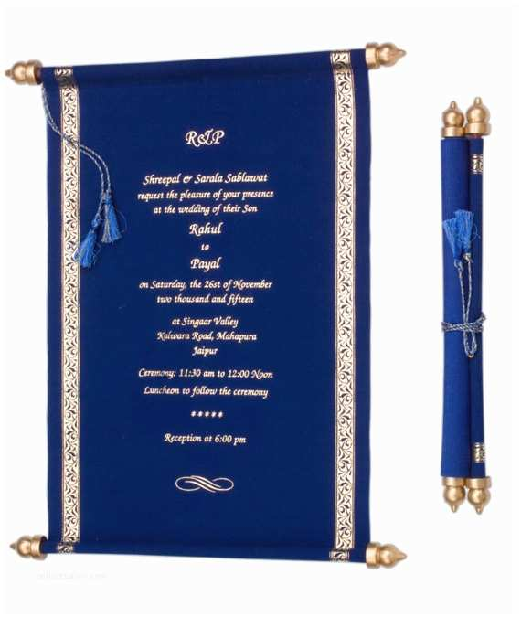 100 Personalised Wedding Invitations 100 Personalised Wedding Scroll Invitations Royal Velvet