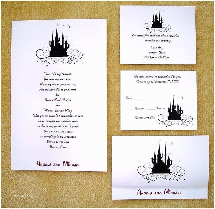 100 Personalised Wedding Invitations 100 Personalized Custom Cinderella Castle Disney Wedding