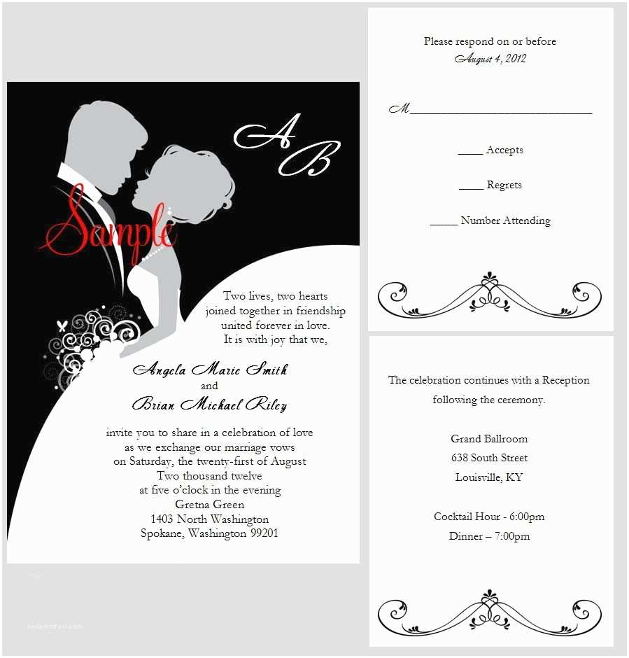100 Personalised Wedding Invitations 100 Personalized Custom Elegant Bride and Groom Wedding