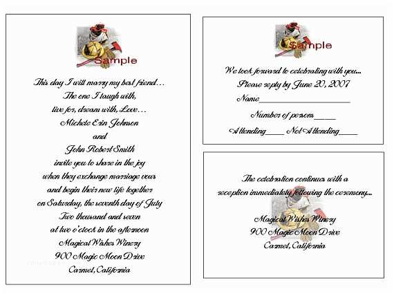 100 Personalised Wedding Invitations 100 Personalized Firefighter Wedding Invitation Sets Fire Free