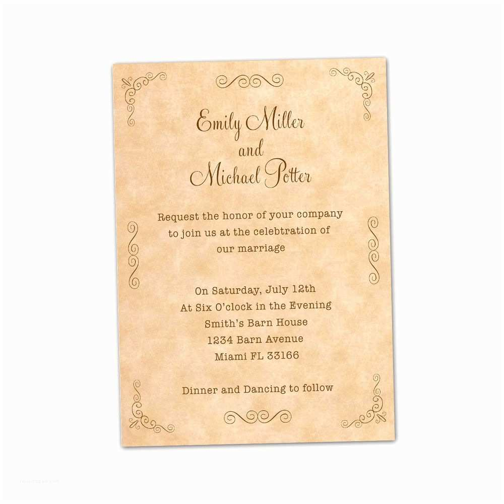 100 Personalised Wedding Invitations 100 Personalized Wedding Invitation Cards Vintage Rustic