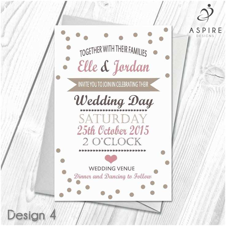 100 Personalised Wedding Invitations 96 Best Personalised Wedding Day and evening Invitations