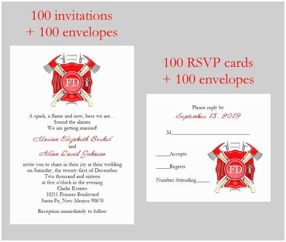 100 Personalised Wedding Invitations Best 25 Fire Department Ideas On Pinterest
