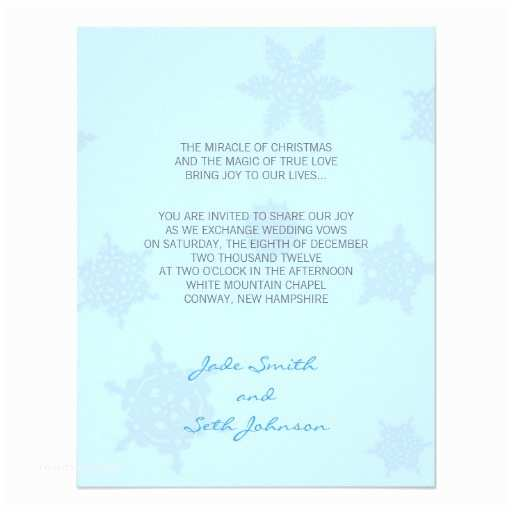 100 Personalised Wedding Invitations Snowflake Wedding Personalised Announcements