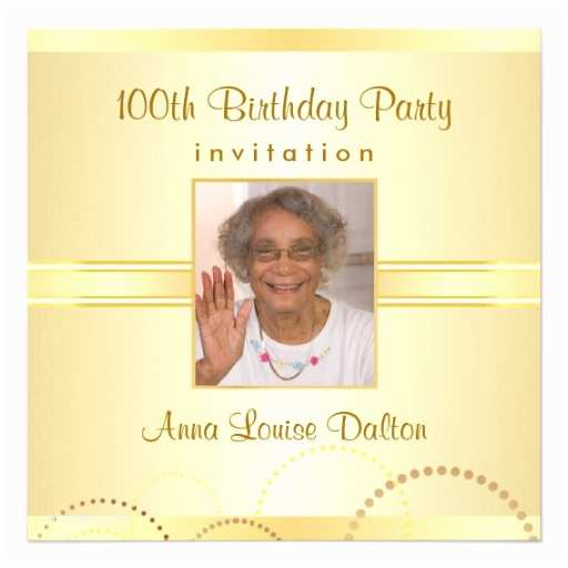 100th Birthday Invitations 100th Birthday Party Invitations Optional