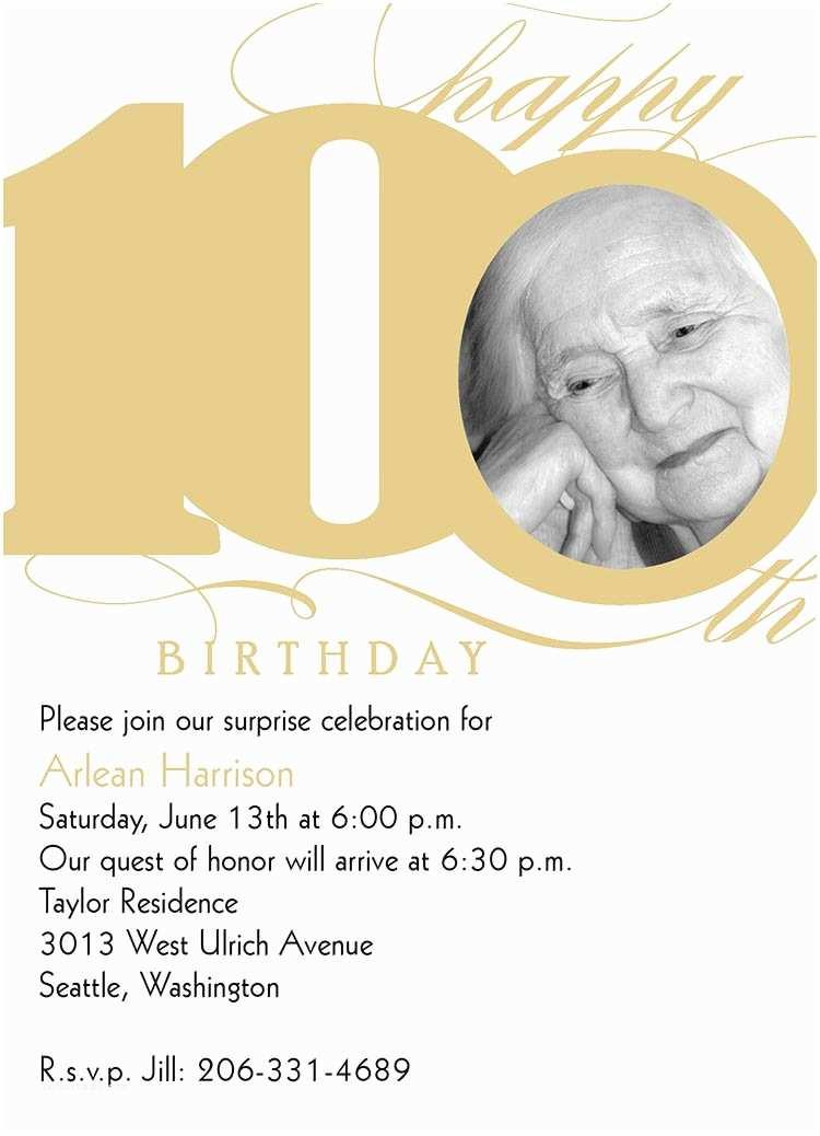 100th Birthday Invitations 100th Milestone Birthday Birthday From Cardsdirect
