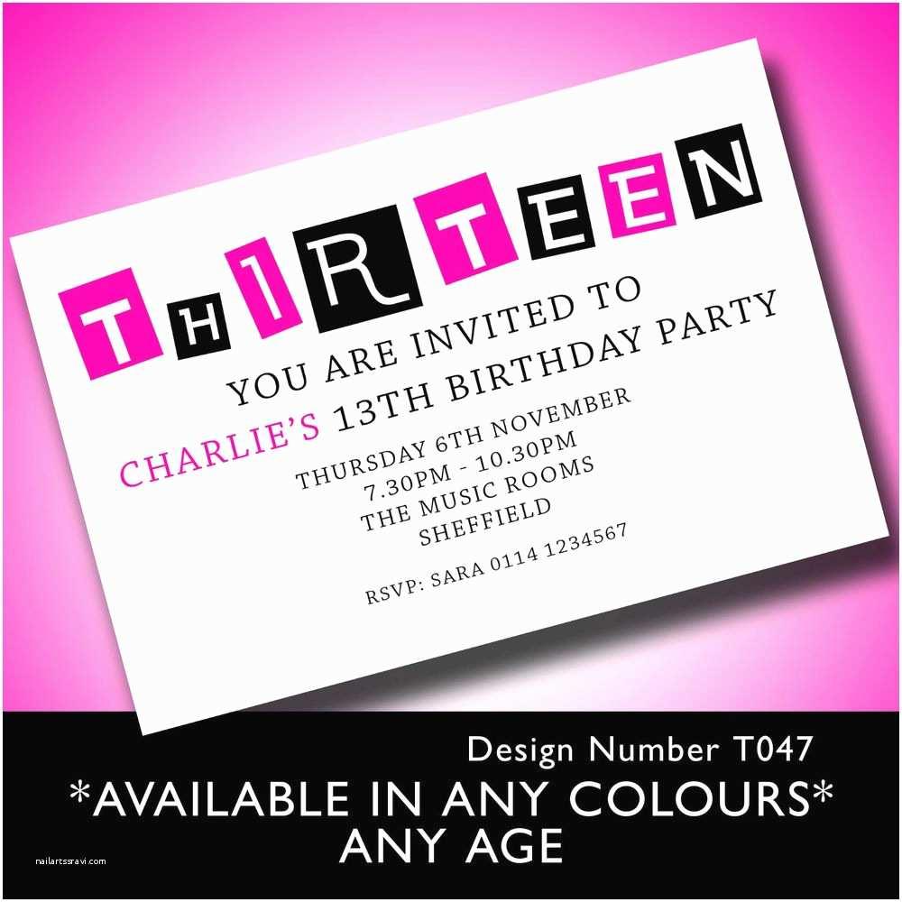 13th Birthday Invitations 13th Birthday Party Invitations