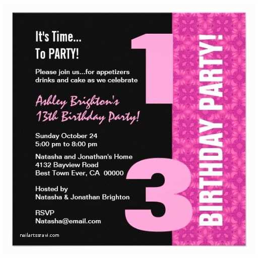 13th Birthday Party Invitations Invitation Template