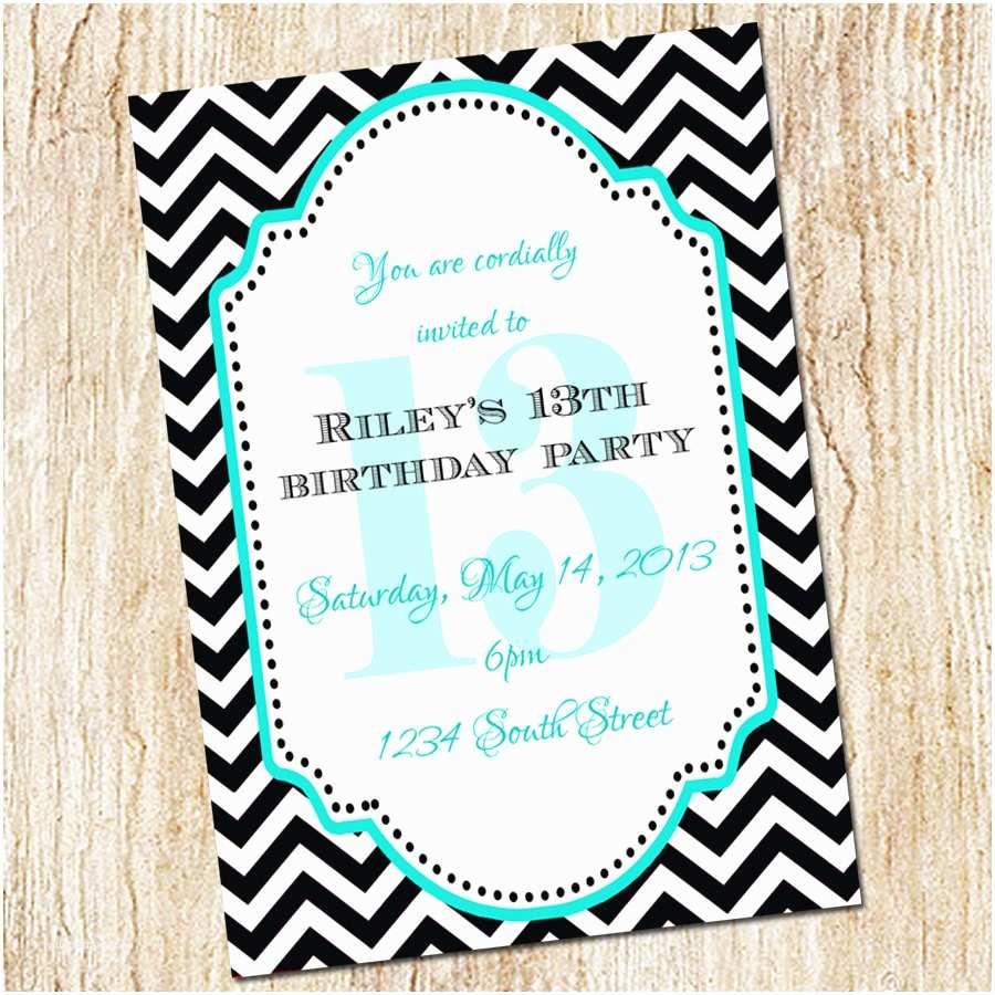 13th Birthday Party Invitations 13th Birthday Party Invitation Girl Birthday By