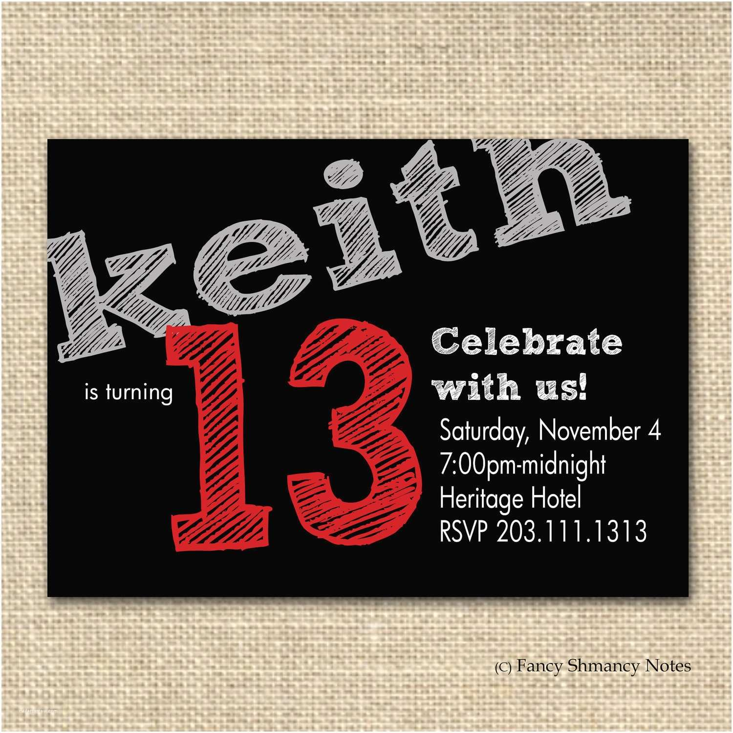 13th Birthday Party Invitations 13th Birthday Party Invitation Ideas – Bagvania Free