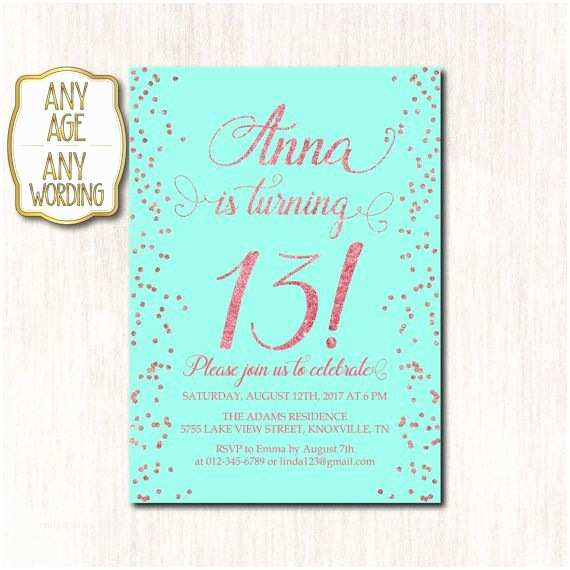 13th Birthday Party Invitations 17 Best Ideas About Teen Birthday Invitations On