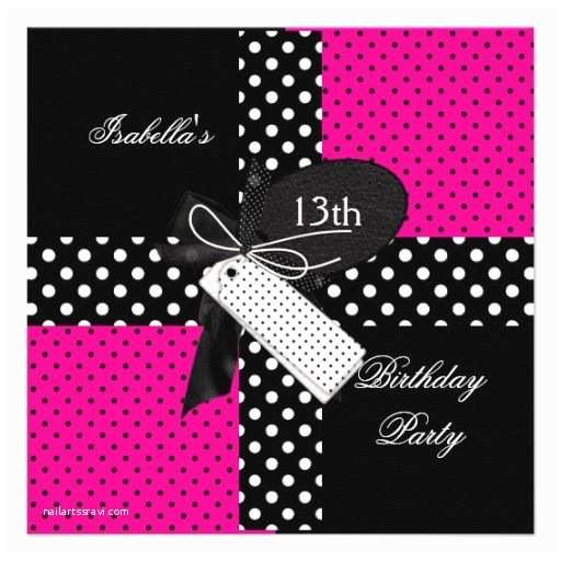 13th Birthday Party Invitations 18 Best 13th Birthday Party Invitations  Ideas Pink