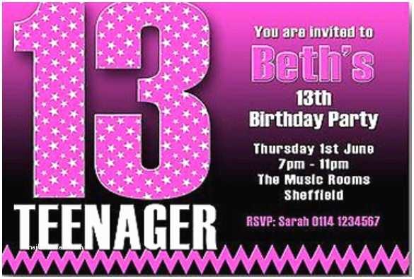 13th Birthday Party Invitations 18 Teenage Birthday Invitations – Free Psd Vector