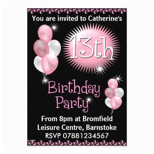 13th Birthday Party Invitations 29 Best Images About 13th Birthday Party Invitations