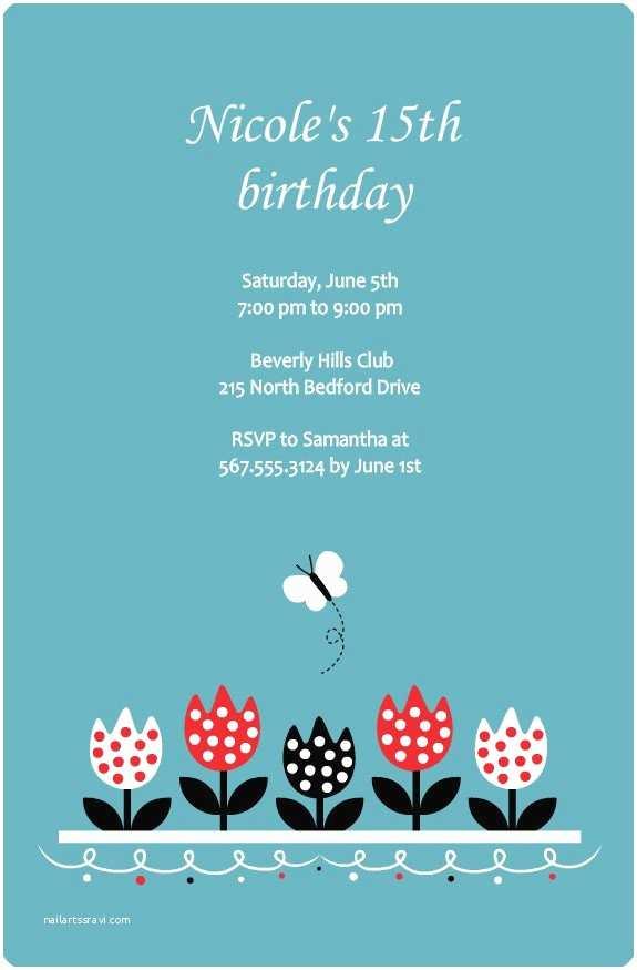 15th Birthday Party Invitations 15th Birthday Party Invitations