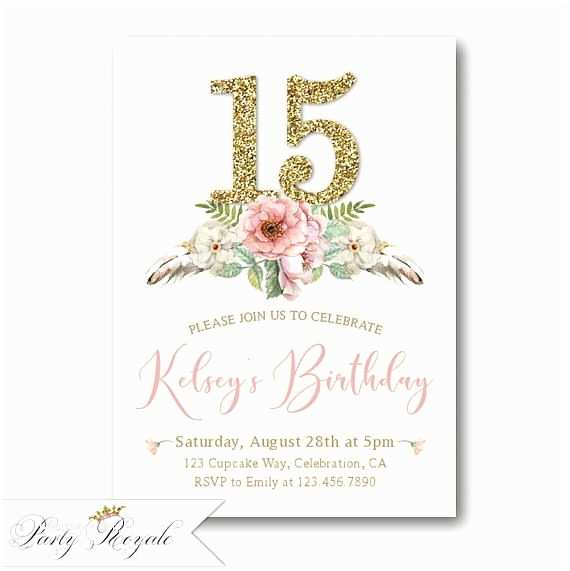 15th Birthday Party Invitations Best 25 Teen Birthday Invitations Ideas On Pinterest
