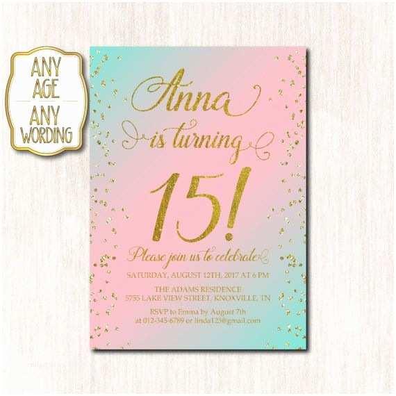 15th Birthday Party Invitations Birthday Invitation Templates 15th Birthday Invitations