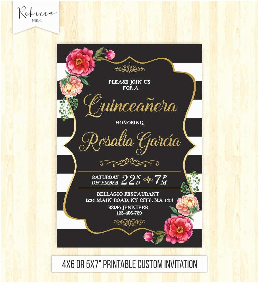 15th Birthday Party Invitations Quinceanera Invitation 15th Birthday Party Invite Mis Quince