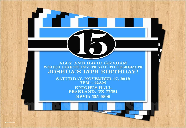 16th Birthday Party Invitations 13th 15th 16th Birthday Boy or Any Age Adult Birthday Party