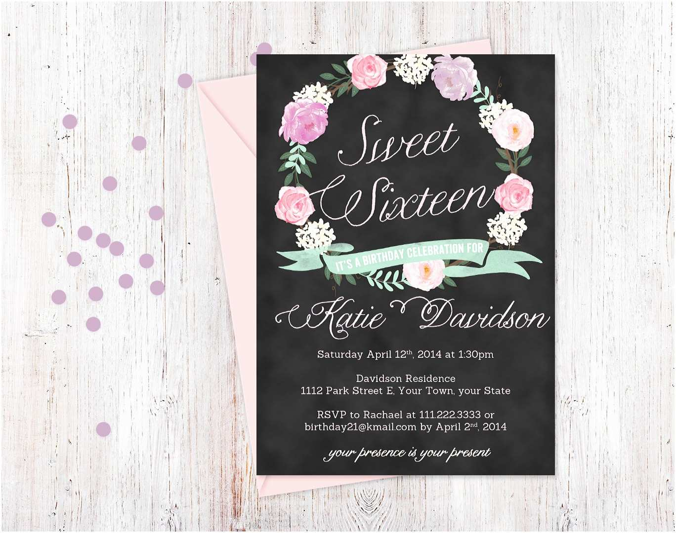16th Birthday Party Invitations Templates Ideas First