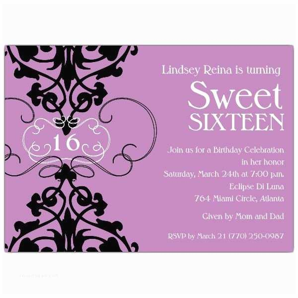 16th Birthday Party Invitations 39 Best Sweet 16 Invitations Images On Pinterest
