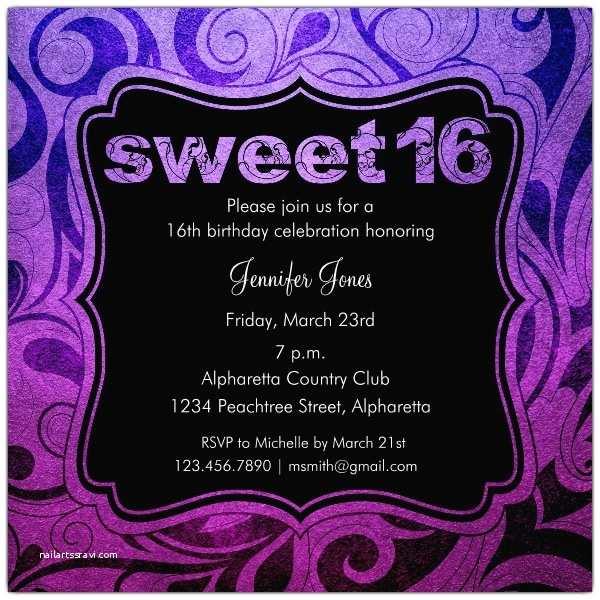 16th Birthday Party Invitations Brilliant Emblem Sweet 16 Birthday Party Invitations