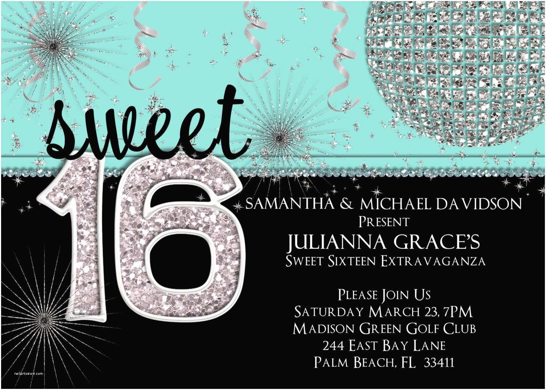 16th Birthday Party Invitations Sweet 16 Invitation Sweet Sixteen Birthday