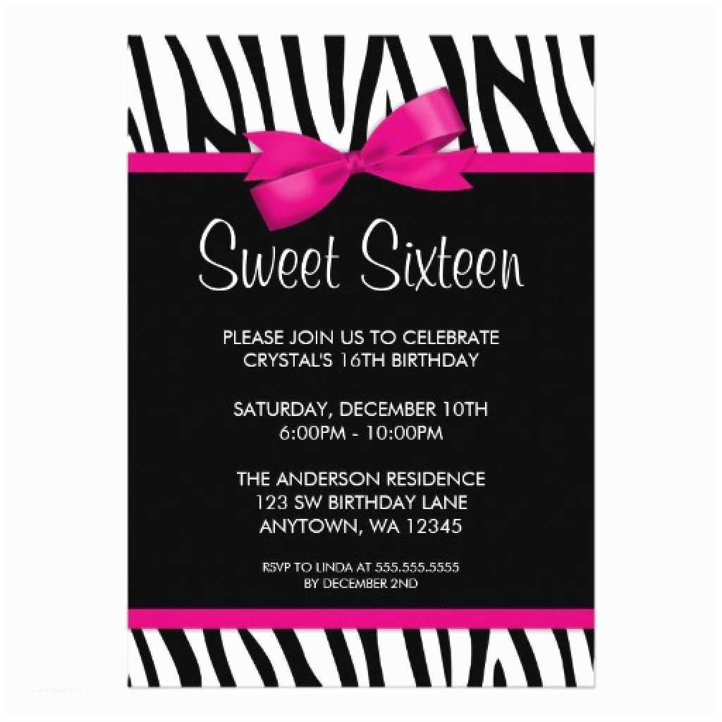 16th Birthday Party Invitations Sweet 16th Birthday Invitations Templates