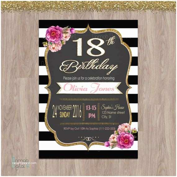 18th Birthday Invitations 18th Birthday Invitations 18th Birthday Party by