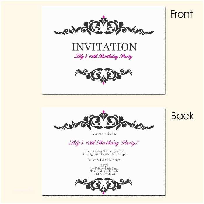18th Birthday Invitations 18th Birthday Invitations – Gangcraft