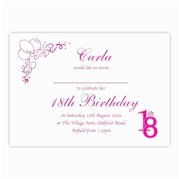 18th Birthday Invitations Party Invitation Birthdays