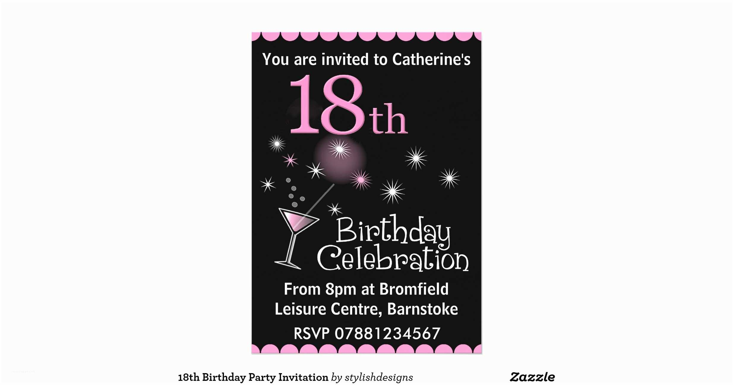 18th Birthday Invitations Party Invitation