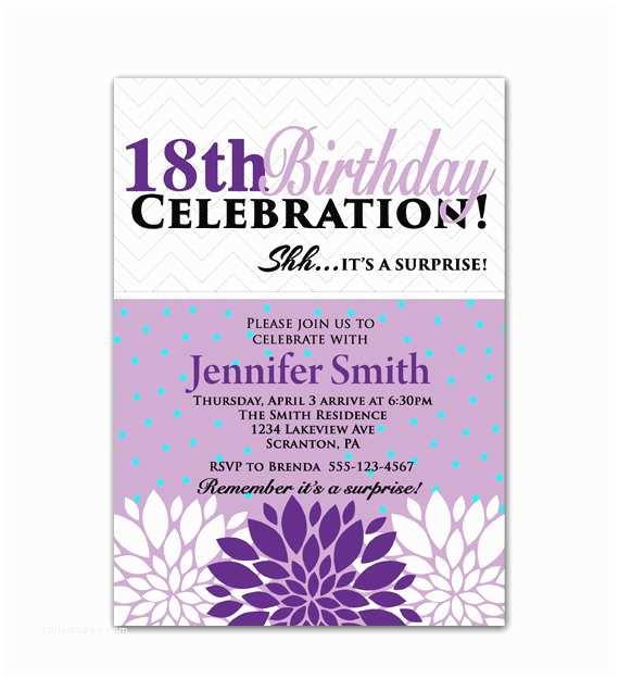 18th Birthday Invitations Party