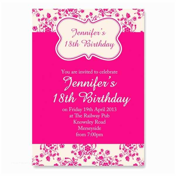 18th Birthday Invitations Girl S Invitation Girls Birthdays