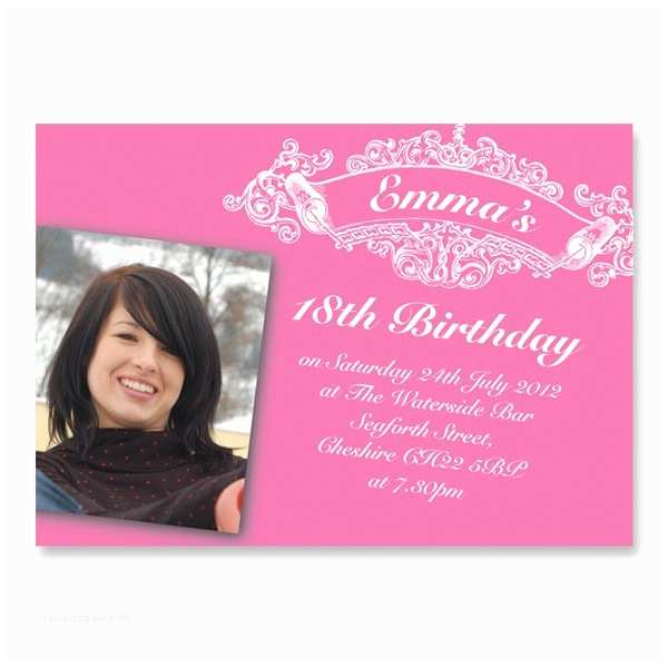 18th Birthday Invitations Girl S 18th Birthday Invitation