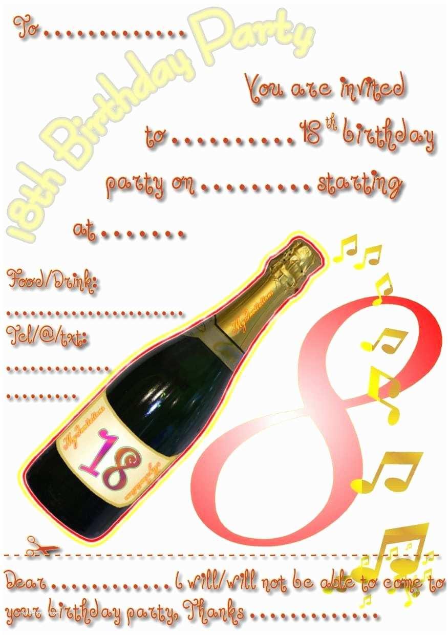 18th Birthday Party Invitations 18 Birthday Invitation Template