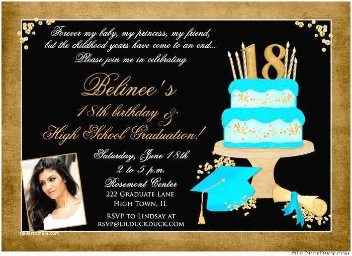 18th Birthday Party Invitations 18th Birthday and Graduation Card Daughter S Bold