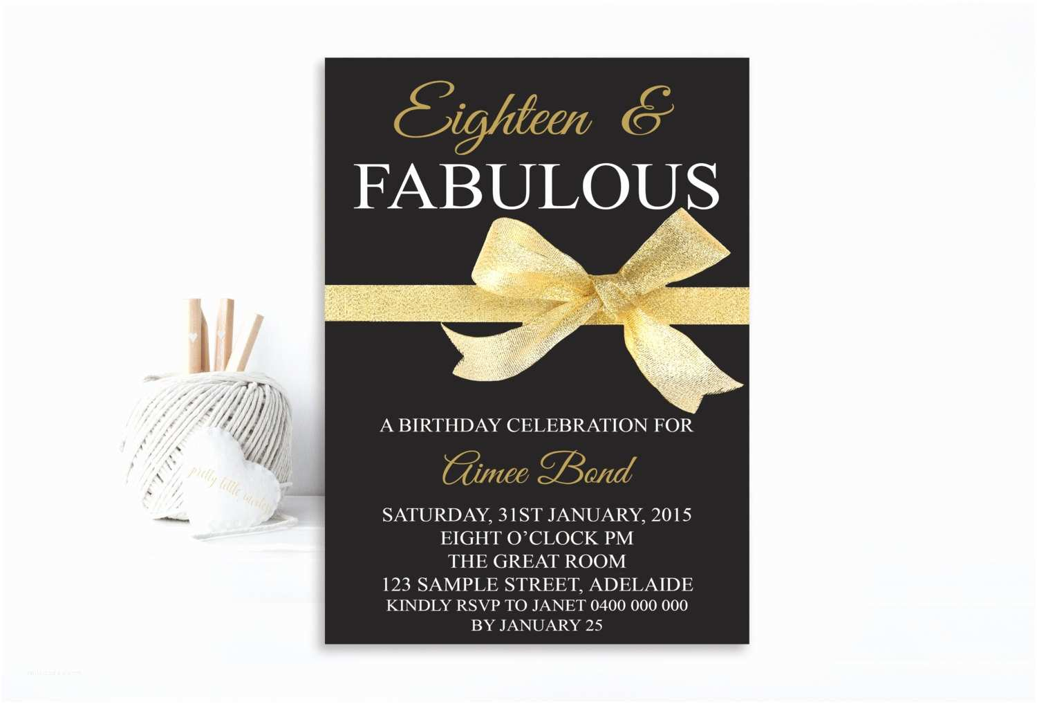 18th Birthday Party Invitations Invitation