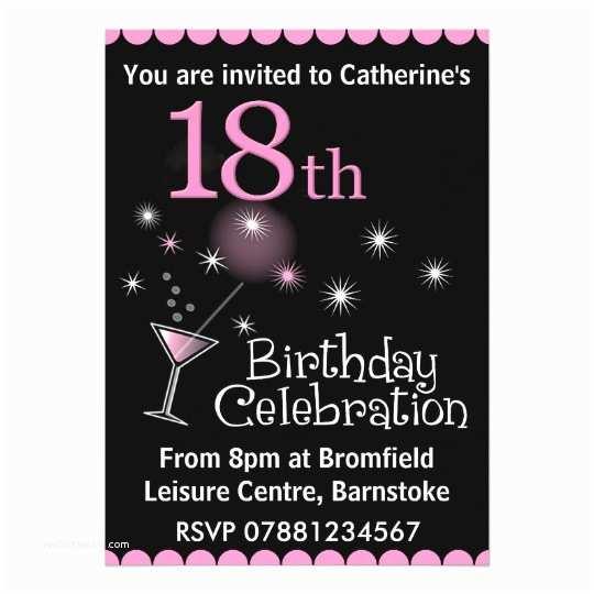 18th Birthday Party Invitations 18th Birthday Party Invitation