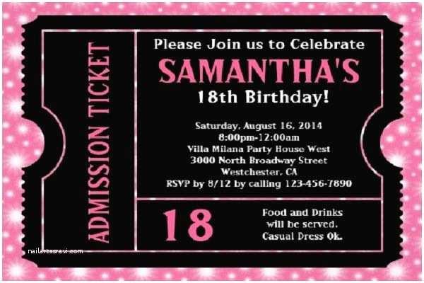 18th Birthday Party Invitations 18th Birthday Party Invitations Decorating Party