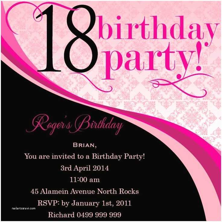 18th Birthday Party Invitations 33 Best 18th Birthday Invitations & Inspirations Images On