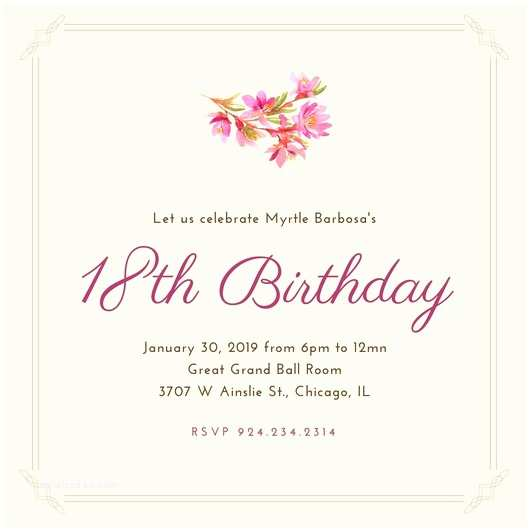 18th Birthday Party Invitations Customize 1 023 18th Birthday Invitation Templates Online