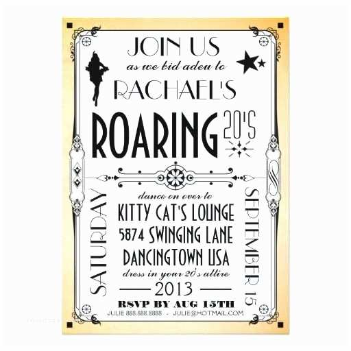 1920s Party Invitation 29 Best Roaring 20 S Party Images On Pinterest