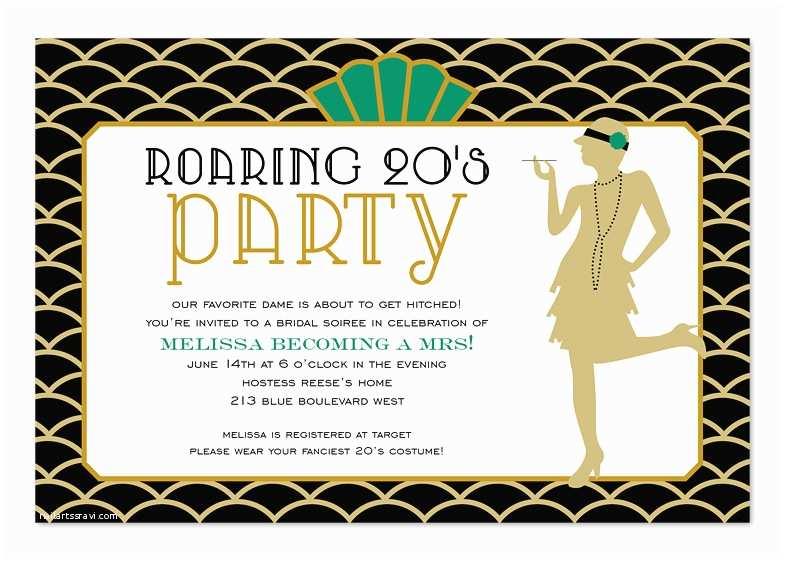 1920s Party Invitation Roaring Twenties Birthday Invitations by Invitation