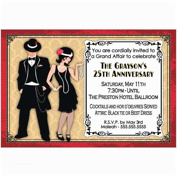 1920s Party Invitation Roaring Twenties Party Invitations