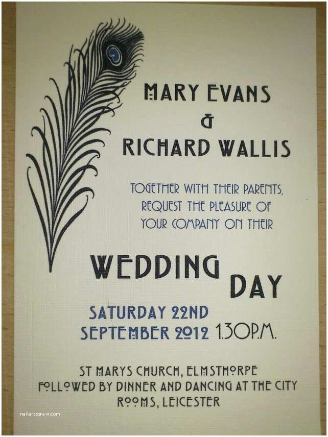 1920 s Art Deco Wedding Invitations