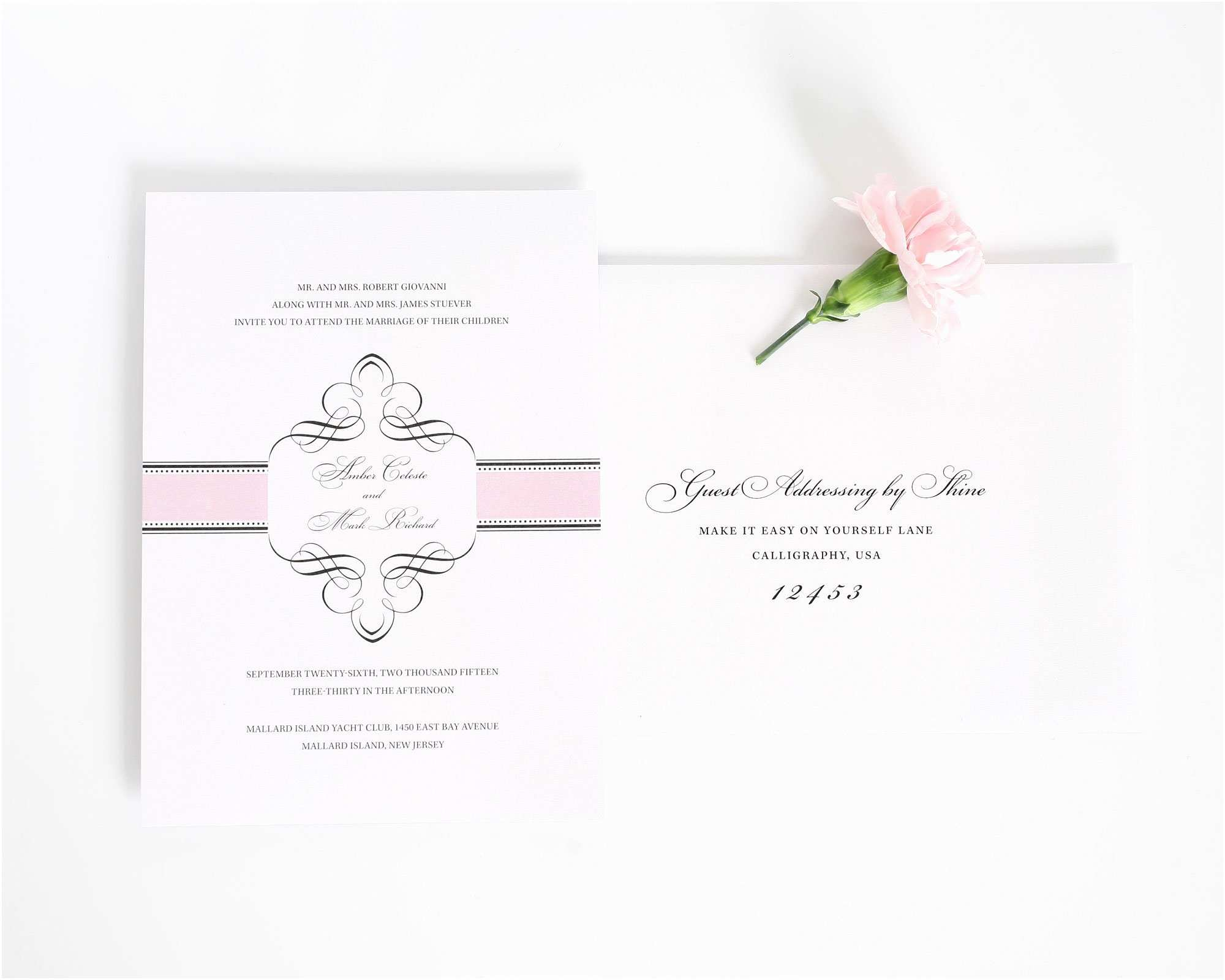 1920s Wedding Invitations 1920s Wedding Invitations In Pink – Wedding Invitations