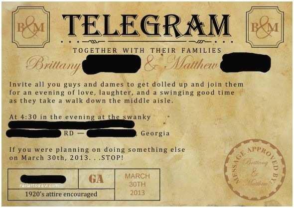 1920s Wedding Invitations 1920s Wedding Invitations Template Resume Builder