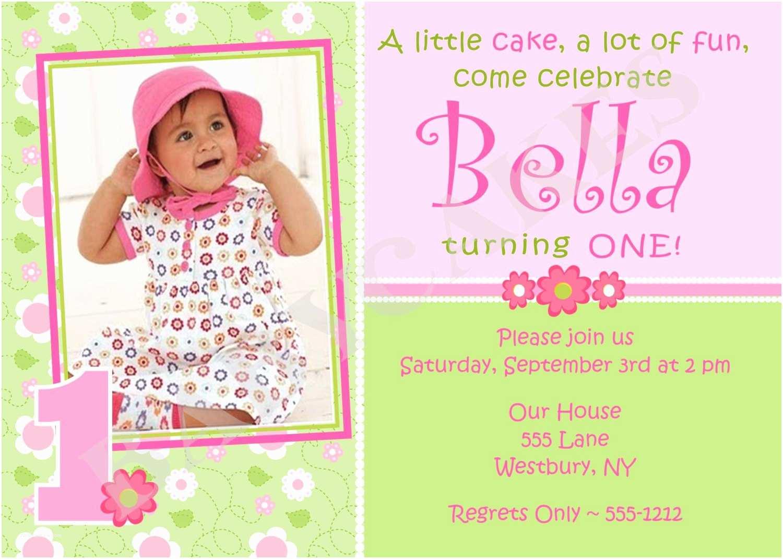 1st Birthday Invitation Wording 1st Birthday Invitations Girl Free Template Baby Girl S